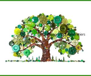 mixed media, button art, and laura bell artist image