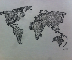 art, continents, and draw image