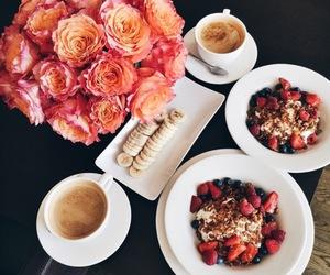 food, flowers, and breakfast image