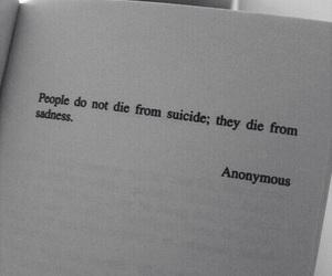 sad, sadness, and suicide image