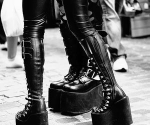 shoes, gothic, and boots image