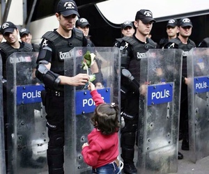 flower, peace, and turkish police image