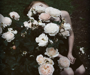girl, rose, and vintage image