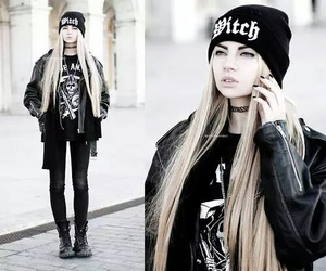 clothes, dark, and goth image
