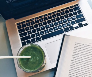 bones, book, and green smoothie image