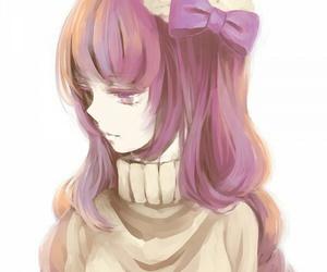anime, anime girl, and purple image