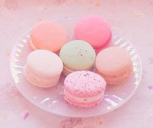 pink, pastel, and food image