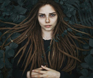 dreads, pretty, and girl image
