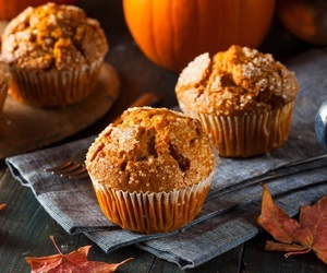 autumn, fall, and muffin image