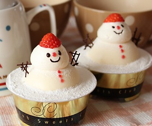 cute, food, and snowman image