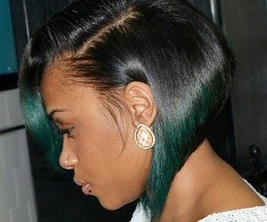 bob, hair, and ombre image