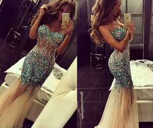 dress, luxury, and Prom image