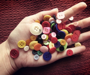 buttons, colorful, and cute image