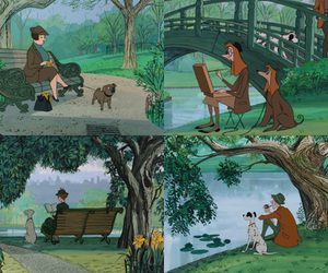 101 dalmatians, dogs, and disney image