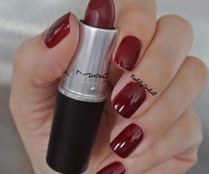 nails, mac, and lipstick image