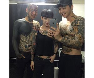 Asian gang tatoos right! good
