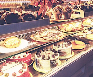 bakery, food, and cakes image