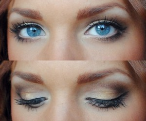 makeup, eyes, and blue eyes image