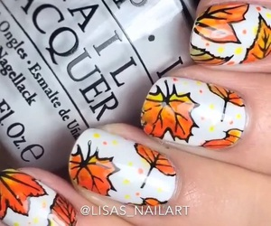 autumn, leafs, and nails image