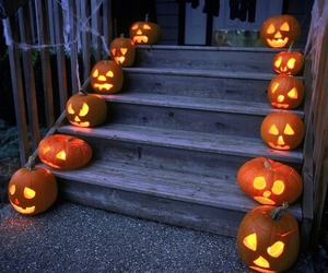 autumn, Halloween, and porch image