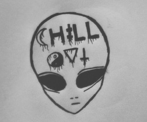 alien, wallpaper, and chill image