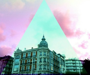 colors, pastel, and triangles image