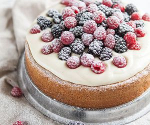cake, berries, and food image