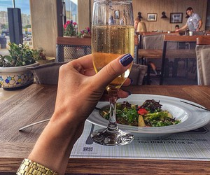 champagne, luxury, and nails image