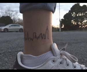 tattoo, city, and tumblr image