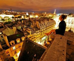girl, paris, and city image