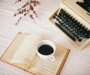 book, vintage, and coffee image