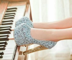 fashion, heels, and piano image