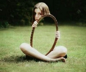 mirror and girl image