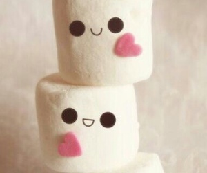 sweet, heart, and marshmallow image