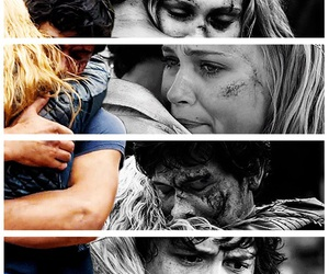 hug, bellarke, and the hundred image