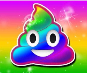 rainbow, emoji, and color image