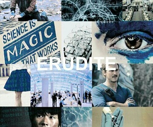 divergent, blue, and four image