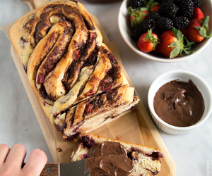 berries, bread, and nutella image