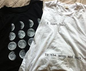 fashion, moon, and shirt image