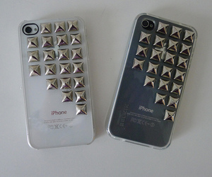 iphone, case, and studs image