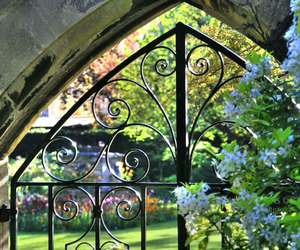garden, gate, and oxford image
