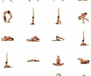 yoga, pose, and fitness image