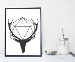antlers, art, and deer image