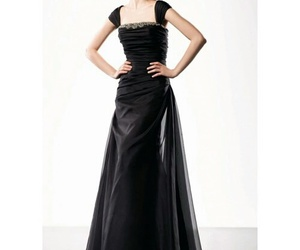 a-line, ball gowns, and black image