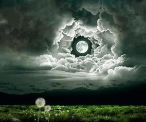 clouds, fairy, and moon image