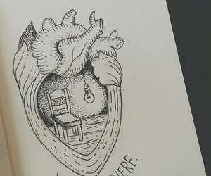 draw, drawing, and heart image