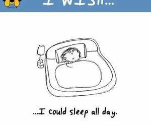 cartoon, wish, and sleep image