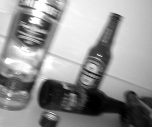 alcohol, black and white, and booze image