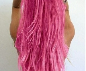 coloured hair and pink image