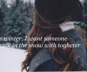 winter, snow, and together image